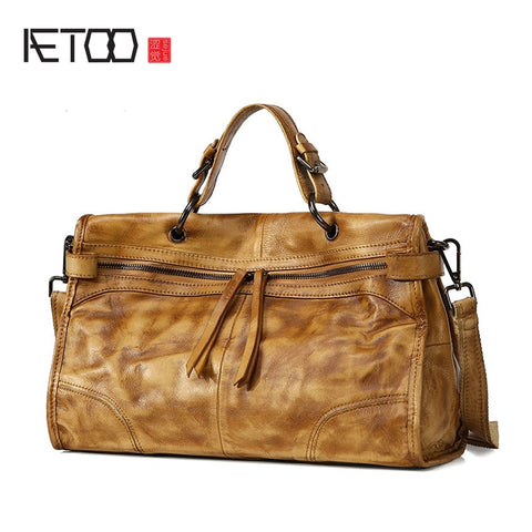 AETOO Distressed Leather Satchel