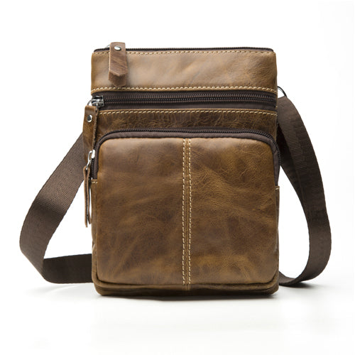 WESTAL Retro Leather Messenger Bag