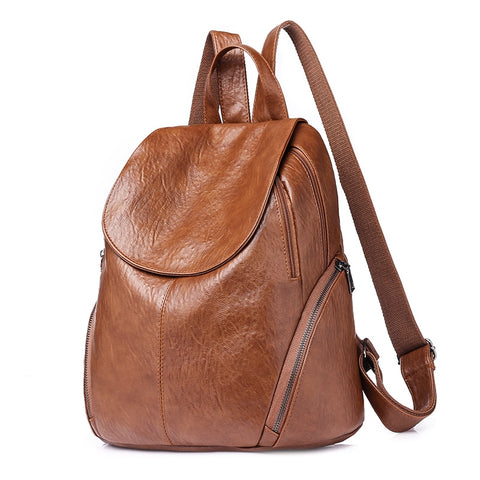 Genuine Leather School Backpack
