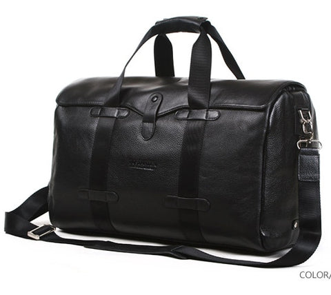 Bostanten Genuine Leather Duffel Bag
