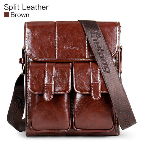 LIELANG Rustic Leather Messenger Bag