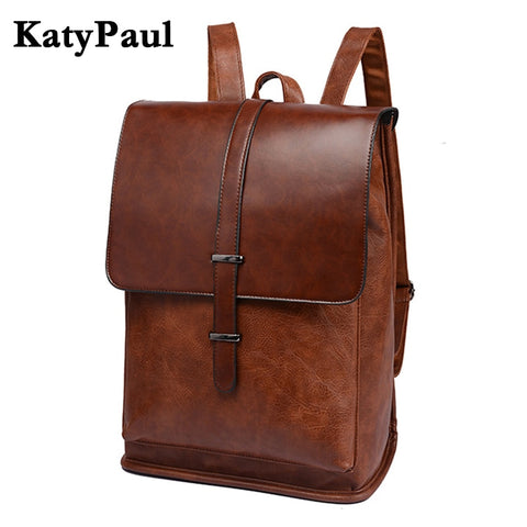 KATY PAUL Genuine Leather Vintage Backpack