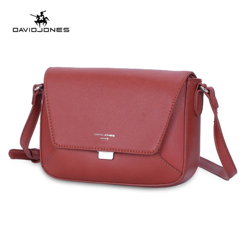 DAVIDJONES Leather Messenger Bag