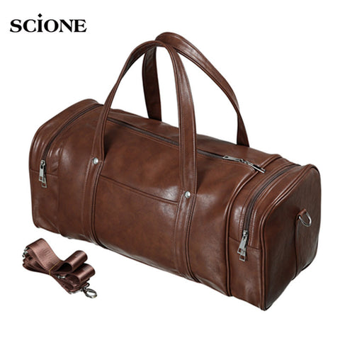 SCIONE Genuine Leather Travel Bag