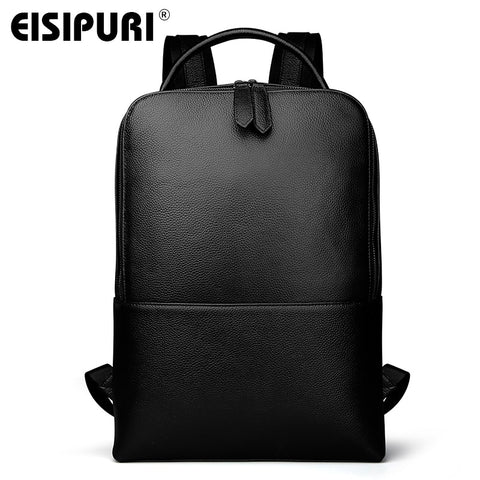 EISIPUR Genuine Leather 15.6 Laptop Backpack