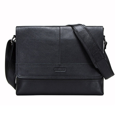 CONTACTS Genuine Leather Messenger Bag