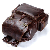 "CONTACTS 13.3"" Rustic Leather Laptop Backpack"