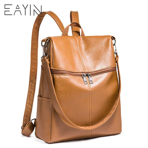 EAYIN Genuine Leather Backpack