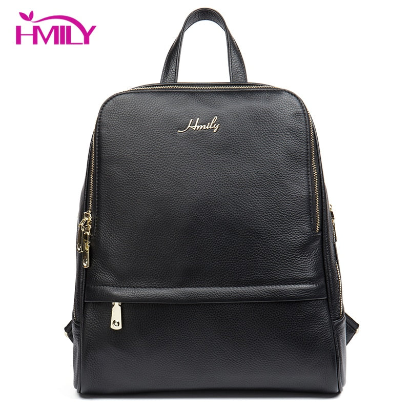 HMILY Genuine Leather Backpack