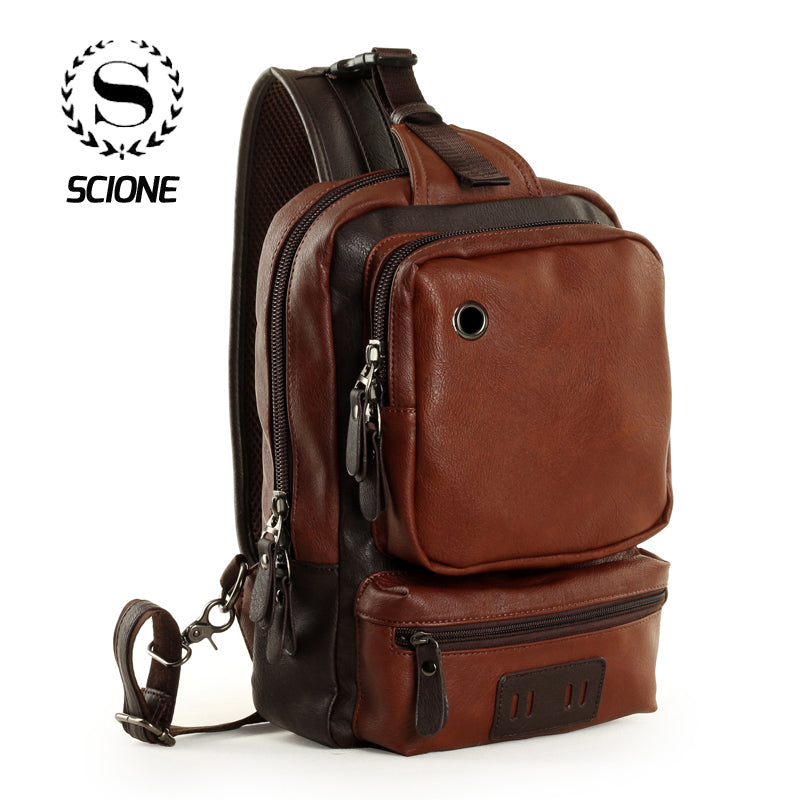 Scione Waterproof Travel Backpack with Earphone Hole