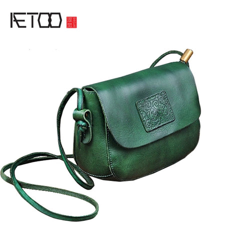 AETOO Cute Retro Leather Saddle Bag