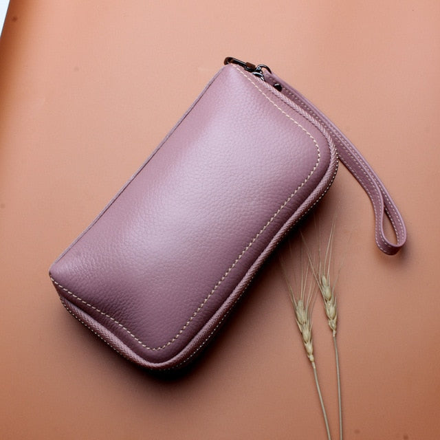 YAGELI Genuine Leather Wristlet Clutch