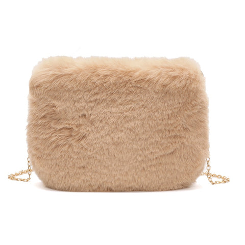 JASMIN NOIR Winter-Inspired Fur Bag