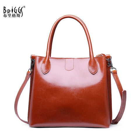 BRIGGS Vintage Genuine Leather Satchel