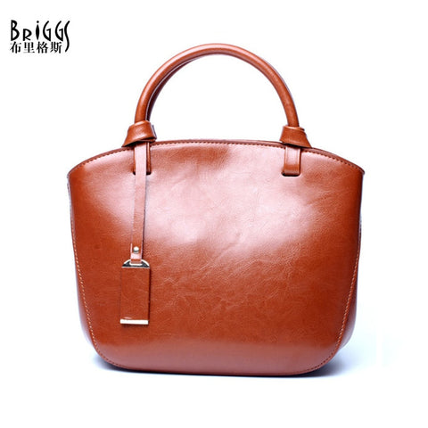 BRIGGS Genuine Leather Top-Handle Handbag