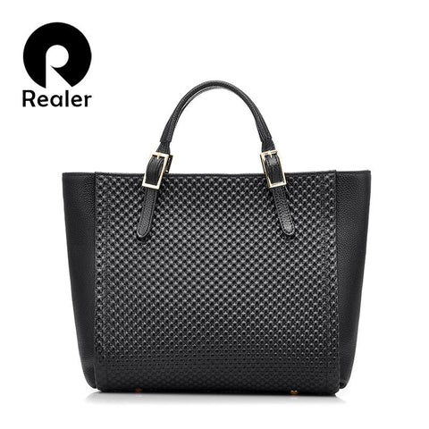 REALER Classic Satchel Bag - BagPrime - Look Your Best with Amazing Bags