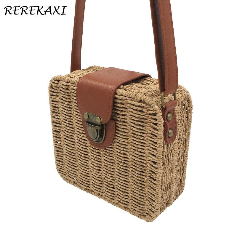 REREKAXI Spring-Inspired Basket Crossbody Bag