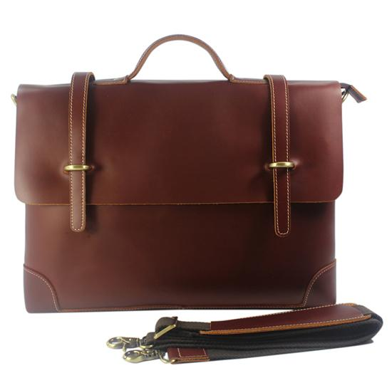 Retro Style Leather Briefcase - BagPrime - Look Your Best with Amazing Bags