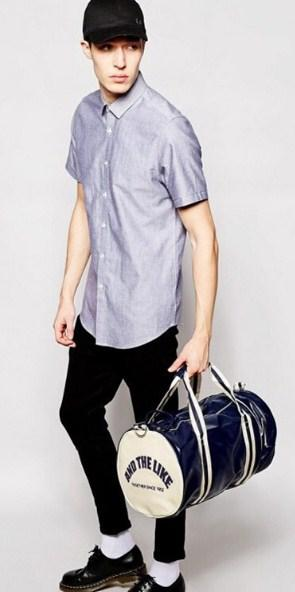 Casual Stylish Man With Sporty Cool Gym Bag - Front View