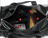 Casual Stylish Black Statement Duffel Bag - Open View