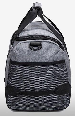 Casual Stylish Gray Utilitarian Gym Bag - Side View