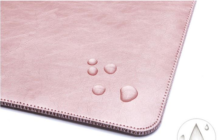 Slip-on Pink Laptop Sleeve- Close Bottom View