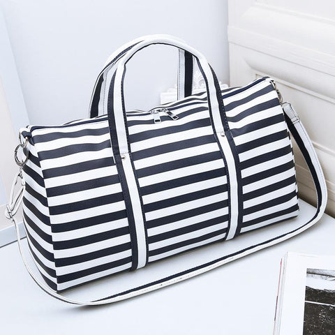Striped Duffel Bag - BagPrime - Look Your Best with Amazing Bags 7441703882