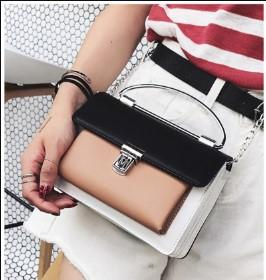 Casual Stylish Woman With Black Cute Color Blocked Bag- Front View