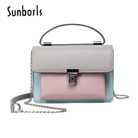 SUNBORLS Cute Color Blocked Bag - BagPrime - Look Your Best with Amazing Bags