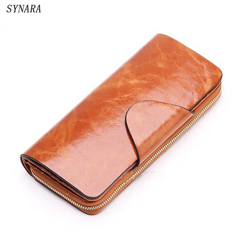 SYNARA Genuine Leather Zipped Wallet