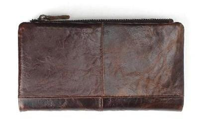 Casual Stylish Brown Vintage Wallet - Back View