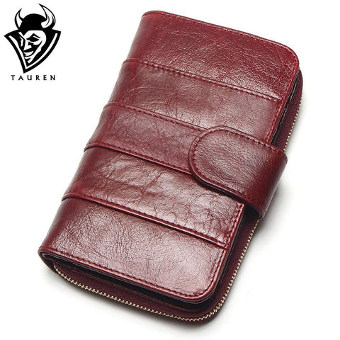 TAUREN Zipped Leather Wallet - BagPrime - Look Your Best with Amazing Bags