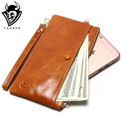 TAUREN Zipped Long Wallet - BagPrime - Look Your Best with Amazing Bags