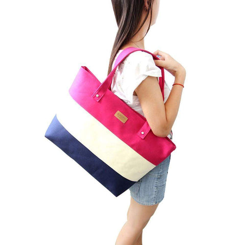 Three-tone Casual Tote Bag - BagPrime - Look Your Best with Amazing Bags