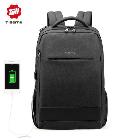 TIGERNU Sleek Backpack-bag-bagprime-Black grey 15.6inch-China-BagPrime - Global Prime Bag Fashion Platform