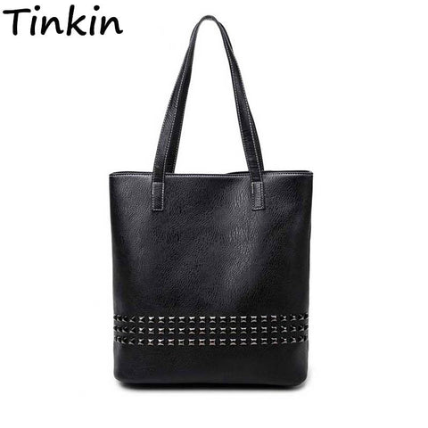 TINKIN Studded Tote Bag - BagPrime - Look Your Best with Amazing Bags