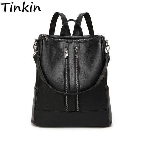 TINKIN Zipped Leather Bag - BagPrime - Look Your Best with Amazing Bags