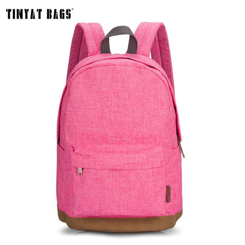 TINYAT Casual Chic Canvas Backpack - BagPrime - Look Your Best with Amazing Bags