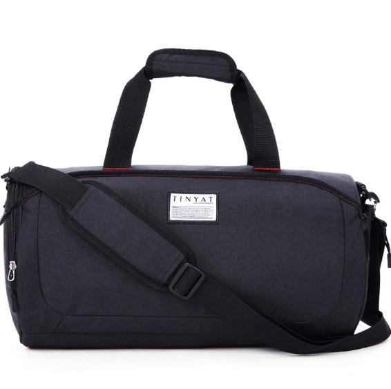 casual stylish black Preppy Cool Duffel Bag- front view