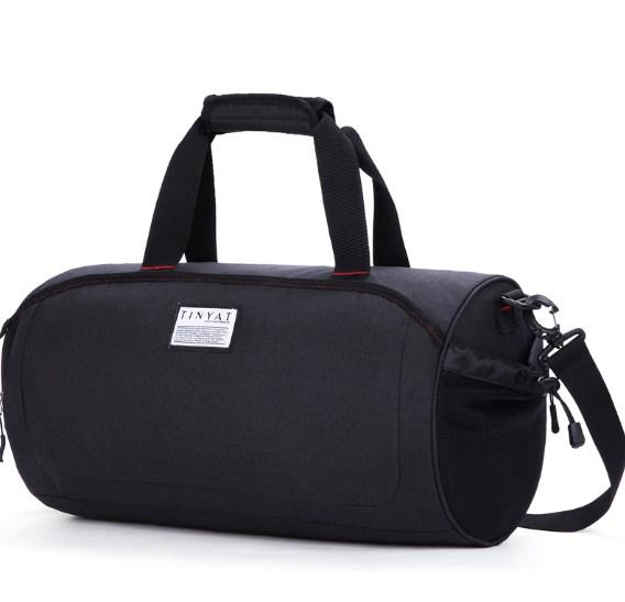 casual stylish black Preppy Cool Duffel Bag- side view