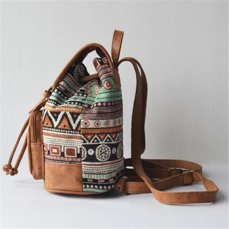 Tribal Print Retro Backpack - BagPrime - Look Your Best with Amazing Bags