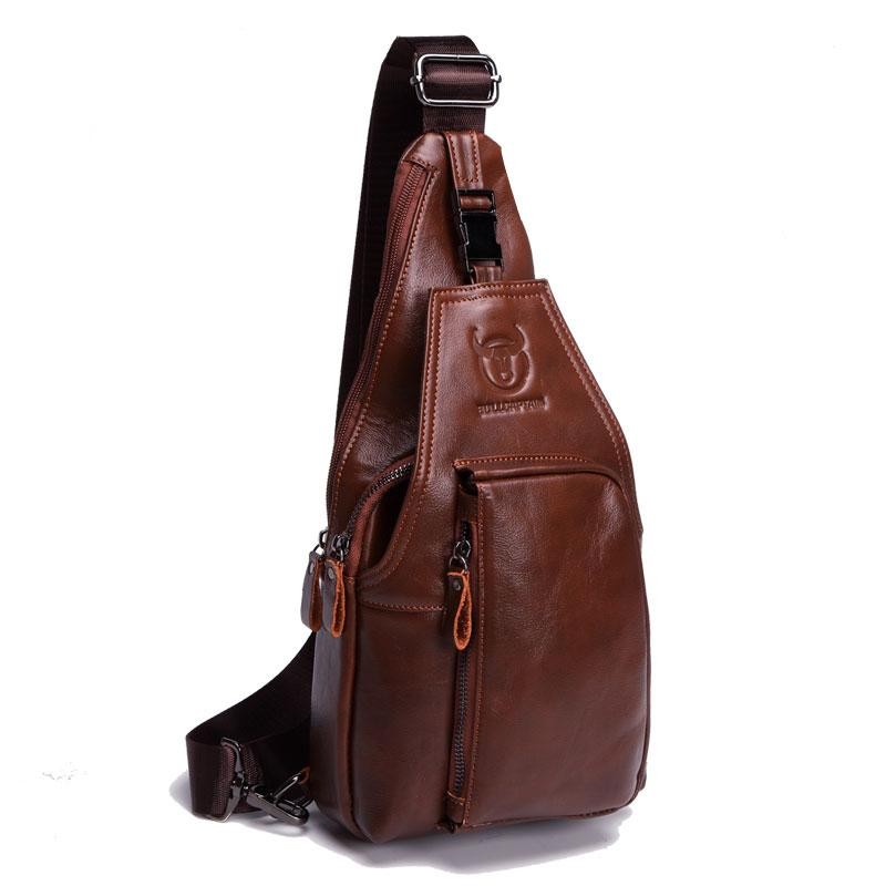 Utilitarian Leather Chest Bag - BagPrime - Look Your Best with Amazing Bags