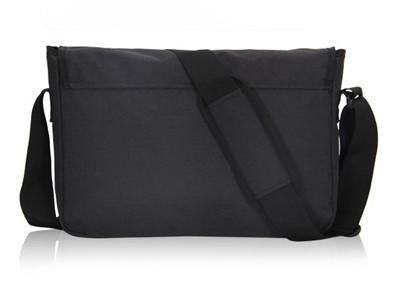 Casual Stylish Black Messenger Bag- Back View