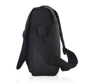 Casual Black Stylish Messenger Bag- Side View