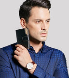 Casual Stylish Man With Black Classic Wallet - Front View