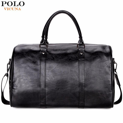 VICUNA POLO Leather Duffel Bag - BagPrime - Look Your Best with Amazing Bags