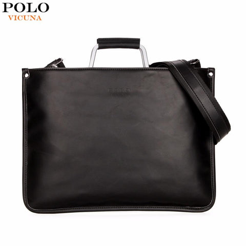 VICUNA POLO Minimalistic Briefcase with Metal Handle