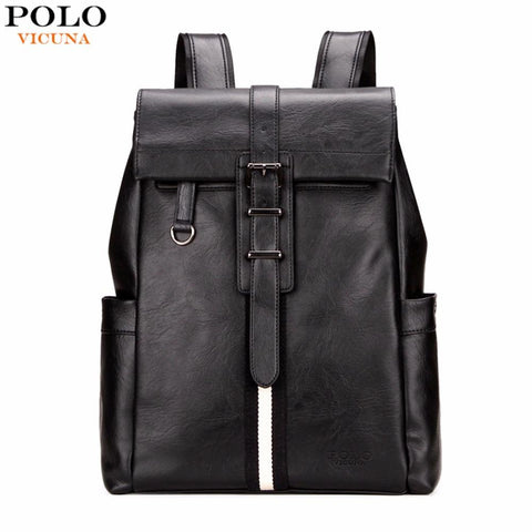 VICUNA POLO Urban Inspired Leather Backpack-bag-bagprime-Black-China-BagPrime - Global Prime Bag Fashion Platform