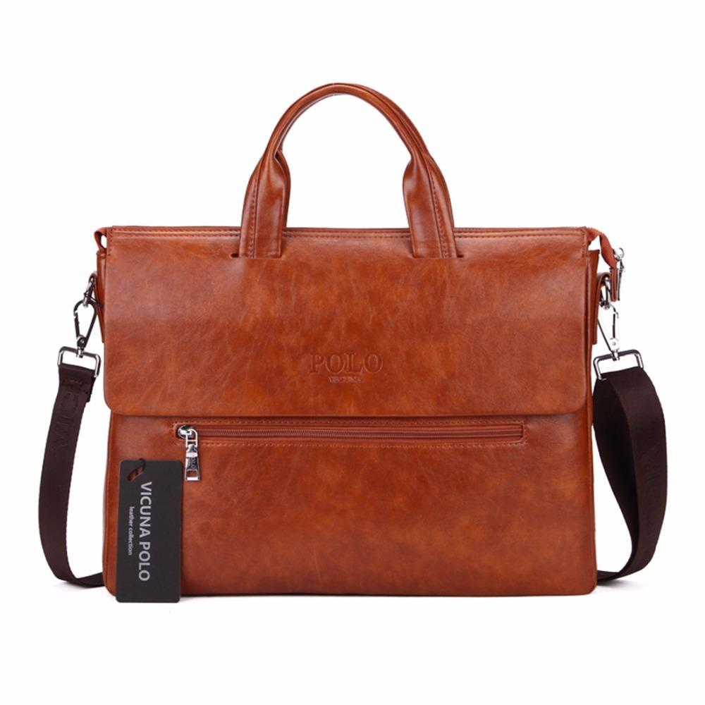 VICUNA POLO Vintage Business Bag - BagPrime - Look Your Best with Amazing Bags