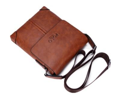 Casual Stylish Brown Vintage Sling Bag- Top View